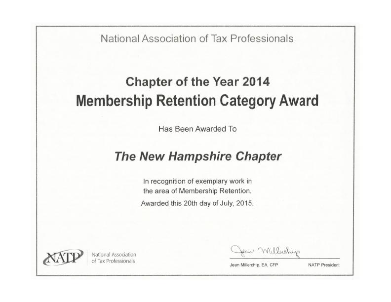 NH NATP Award